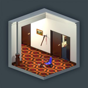 The Shining isometric 3D view
