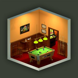 Poolcafe isometric 3D view