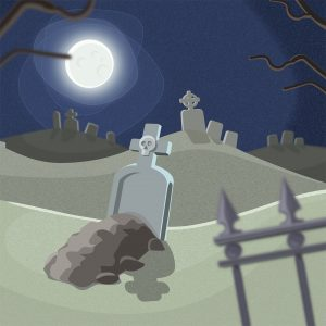 graveyard vector art